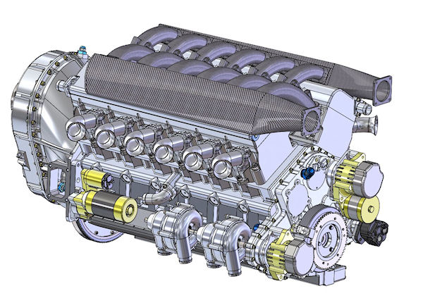 Clean-Sheet 1200 HP V-12 Engine, by EPI Inc